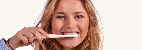Bluem Ultrasoft Toothbrush in Use